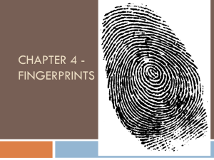 Chapter 4 - Fingerprints