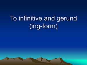 To infinitive and ing-form