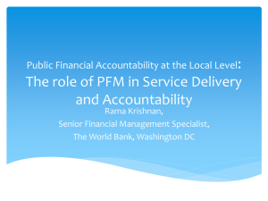 Public Financial Accountability at the Local Level