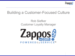Build a Customer Service Culture