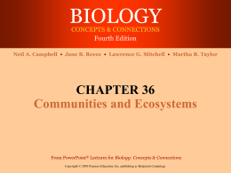 Ch 36: Communities and Ecosystems