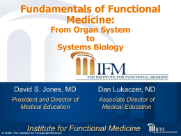 Title of presentation goes here - Institute for Functional Medicine