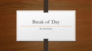 Break of Day - mmhseabbott