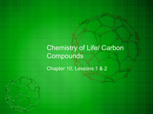 Chemistry of Life/ Carbon Compounds
