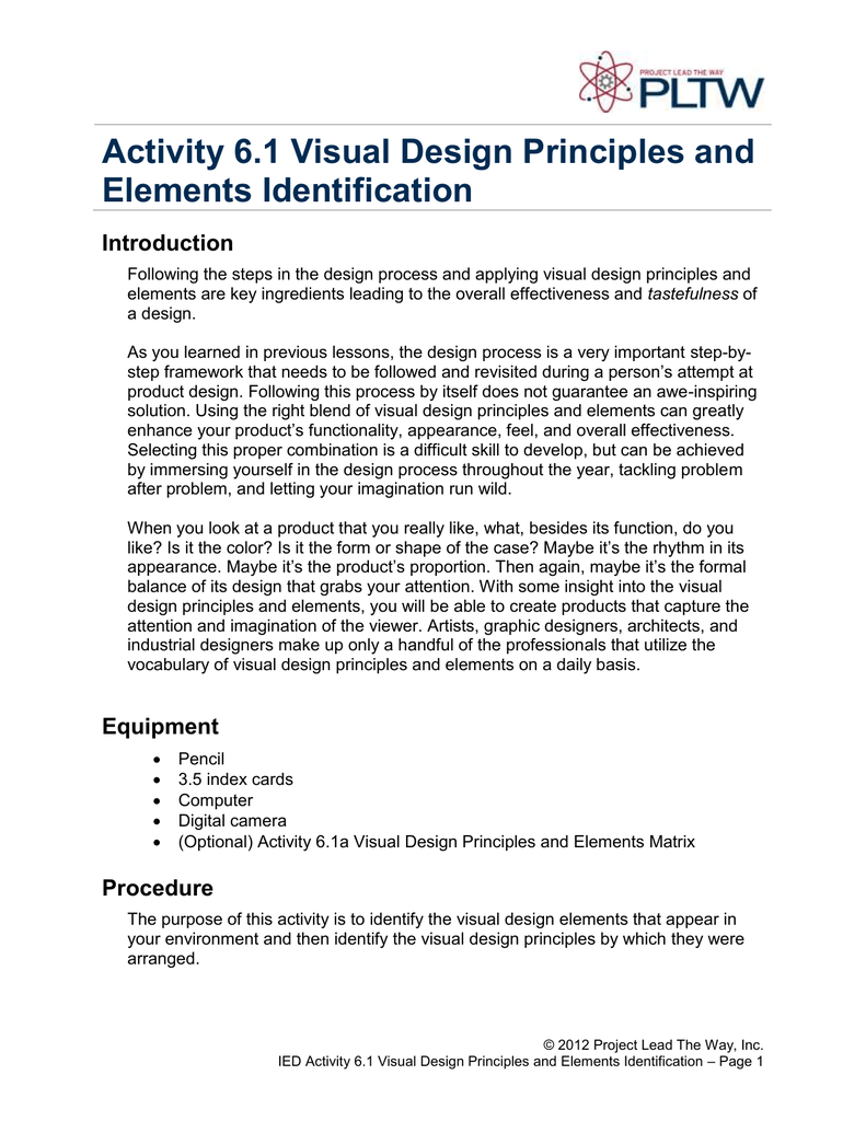 Activity 61 Visual Design Principles And Elements Identification