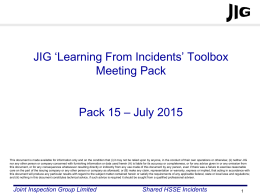 JIG LFI Toolbox Pack 15 - Joint Inspection Group