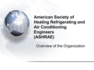 ASHRAE Overview for Students