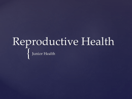 Reproductive Health PPT