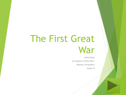The First Great War