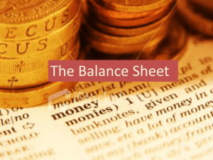 Balance Sheet - businessatgrosvenor