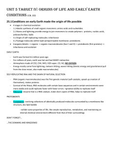 Origins of Life and Early Earth (Ch.25)