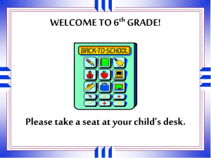 WELCOME TO 6 th GRADE! - Irvine Unified School District