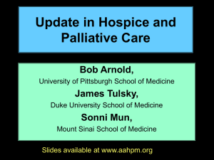 AAHPM Fellow Status Application - American Academy of Hospice