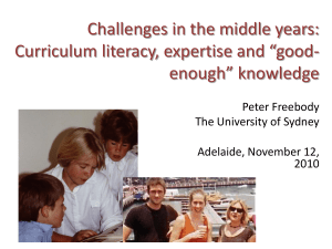 Challenges in the middle years - Australian Education Union (SA