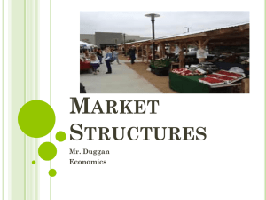 Market Structures - John A. Ferguson Senior High School