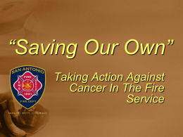 Cancer In The Fire Service - San Francisco Firefighters Cancer
