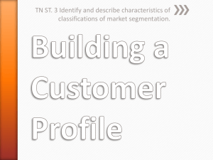 Building a Customer Profile