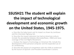 SSUSH21 The student will explain the impact of technological