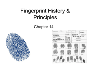 Fingerprint History & Principles