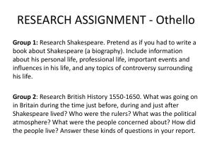 RESEARCH ASSIGNMENT - Othello