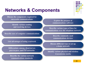 Networks - School of Information and Communication Technology