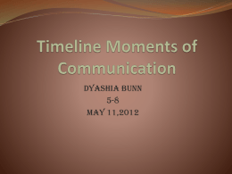 Timeline Moments of Communication