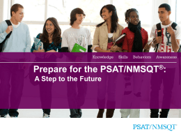 Prepare for the PSAT - Hudson City Schools