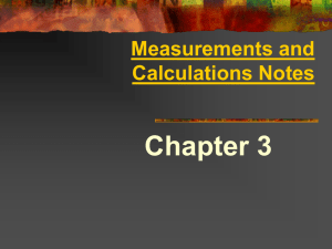 Measurement & Calculations Powerpoint