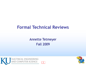 Formal Technical Reviews Author