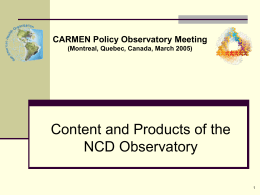 What is the NCD Policy Observatory?