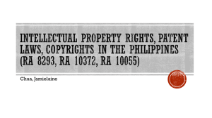 Intellectual Property Rights, Patent Laws, Copyrights in the