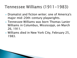 T. Williams ppt