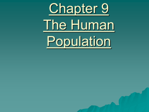 Chapter 9 The Human Population