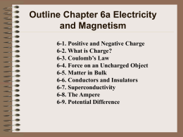 Chapter 6 Electricity and Magnetism