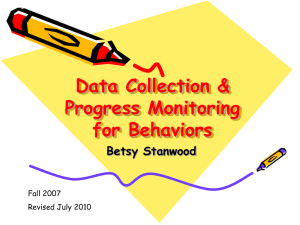 Data Collection & Progress Monitoring for Behaviors