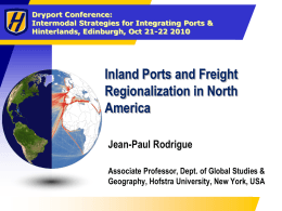 Inland Ports and Freight Regionalization in North America