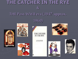 THE CATCHER IN THE RYE & THE 1950's