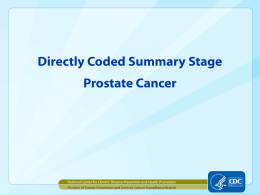 Directly Coded Summary Stage: Prostate Cancer