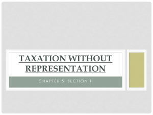 5.1 Taxation Without Representation