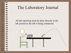 The Laboratory Journal