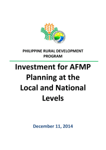 operations manual - Philippine Rural Development Project