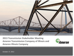 AIC and ATXI 2013 Projected Rate Meeting Presentation