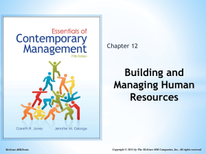 Building and Managing Human Resources