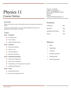 Physics 11 Course Outline