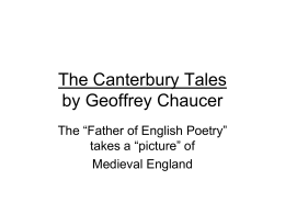 The Canterbury Tales Summary