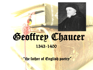 Geoffrey Chaucer - Jeannette City School District