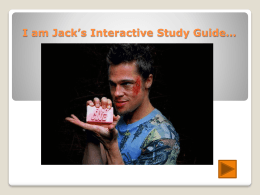 Fight Club Interactive Study Guide