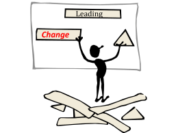 How to Lead Change