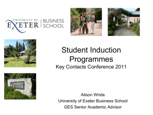 Student Induction Programmes