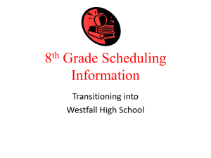freshman year - Westfall Local Schools